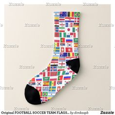 Original FOOTBALL SOCCER TEAM FLAGS 2018 pattern Socks