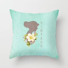 Vintage Obsessions Throw Pillow by Tracey Krick Photography - $20.00