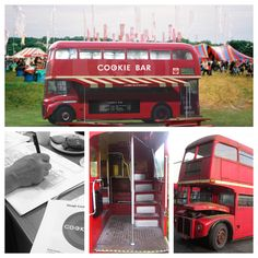 Converting this Red double-decker Bus into a mobile pop-up Cookie Bar.
