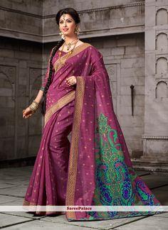 Extraordinary Patch Border Work Cotton   Designer Saree