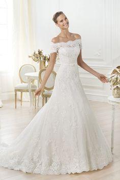 b088a09b15aa Unique New Arrival Wedding Dresses A Line Sweep Train Lace Ivory Nastri Per  Nozze