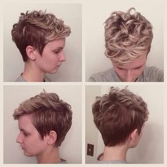 Pixie for curly hair