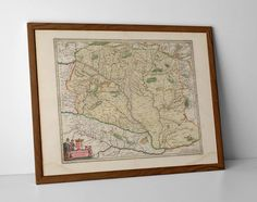 Old Map of Poland, originally created by Willem Janszoon Blaeu, now available as a 'museum quality' wall decor print. Old World Maps, Vintage World Maps, Provence, Le Thor, Pictorial Maps, Trondheim, Orange, Beauty