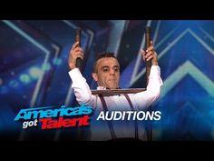 #AGT Uzeyer Novruzov: Man Channels Charlie Chaplin During Ladder Stunt - America's Got Talent 2015