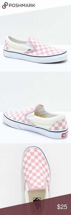 95d964b96a43 Vans Slip-On Zephyr Pink  amp  White Checkered Shoes  Men s Sz 10 Wmn s