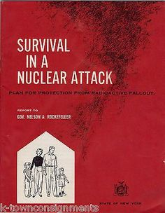 Survival in Nuclear Attack Vintage Cold War Radioactive Fallout Guide Book 1960 Fallout Guide, Communist Propaganda, Nuclear Disasters, Nuclear War, Atomic Age, Old Magazines, See Images, Hiroshima, Cold War