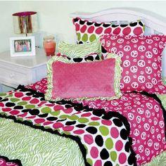 tween girls bedding | Girls Trendy Comforters - Pink Peace Bedding