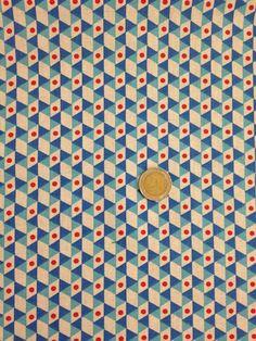 """Tissus motifs graphiques, Tissu de coton à motifs """"Origami"""" est une création orginale de Popeline-et-Patalin sur DaWanda"""