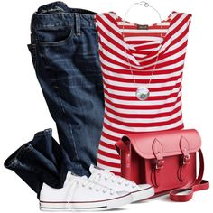 Stripes, created by wishlist123 on Polyvore