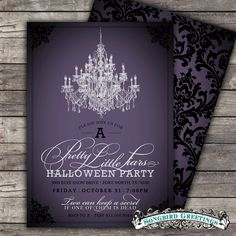 DIY Pretty Little Liars halloween party by SongbirdGreetings