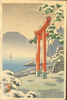 Tsuchiya Koitsu Woodblock Print - Chuzenji SOLD