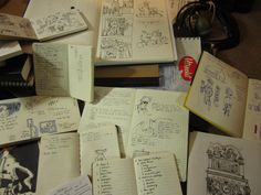 Imgur user Zachary Wong's unbelievable collection of notebooks and sketchbooks filled with years of his thoughts and work.