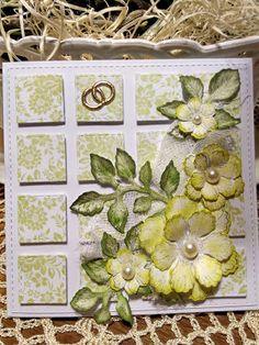 Papierowo zakręcona    : Kwadraty na ślubnej kartce