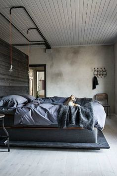 10 Industrial interiors bedroom ideas | Visit vintageindustrialstyle.com for more inspiring images