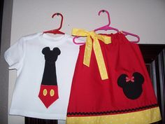 Custom Minnie/Mickey Brother/Sister by AutumnRoseBoutique on Etsy, $35.00