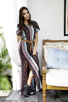 Coleção Inverno 2016 Bohemian   #vestido #vestidolongo #estampa #print #moda #fashion #design #estiloconjugal