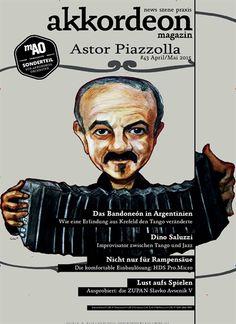 Astor Piazzolla. Gefunden in: akkordeon magazin, Nr. 43/2015