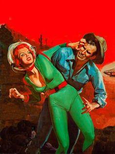 Retro futurismo Sci-Fi | Science Fiction vintage | #Vintage #50s #60s #Illustration #Retro #deFharo #Posters #Futurismo #Fiction