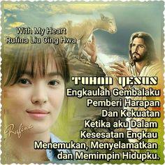 With My Heart 🌺🍁... 🕇» •ღღ• SELAMAT SORE •ღღ🕇• ~  Yohanes 10:11 (TB)  Akulah gembala yang baik. Gembala yang baik memberikan nyawanya bagi domba-dombanya;