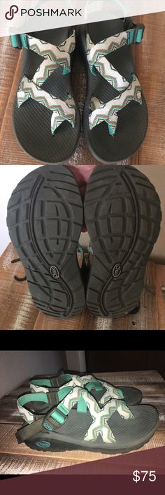 Chacos! Only worn like 2 or 3 times last summer, they just don't fit my feet very well so time to find a new home for them. Paid 99 for them. Chaco Shoes Sandals