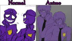 Who drawed the other one violet and Vincent Freddy S, Five Nights At Freddy's, Animatronic Fnaf, Vincent Fnaf, Rebornica Fnaf, Fnaf Sl, William Afton, Night Terror, Freddy Fazbear