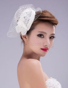 ❀ Grenadine Cap Wedding Hats - Bridal Hats - Wedding Accessories | Riccol ❤