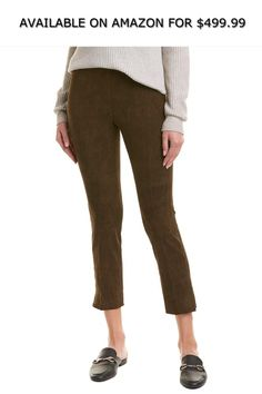 4bb5aef36 Vince Womens Split Hem Suede Crop Legging