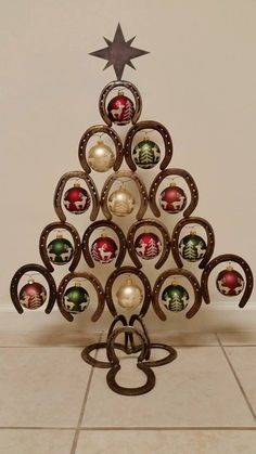 Horseshoe Christmas Tree by MetalCraftTN on Etsy