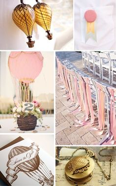 #hot air balloon #party #decoration
