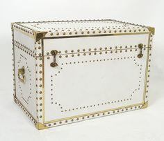 studded leather trunk