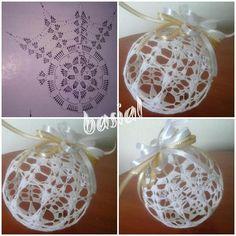 Witam:) To co wczoraj zobaczyłam na swojej tablicy na FB S Fabric Christmas Trees, Crochet Christmas Decorations, Christmas Tree Baubles, Crochet Decoration, Crochet Ornaments, Christmas Crochet Patterns, Crochet Snowflakes, Crochet Doily Patterns, Beaded Ornaments