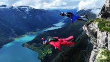 Wingsuit jump in Flo near Stryn, Norway - Photo: Pål S. Vindfallet/Making View/Visitnorway