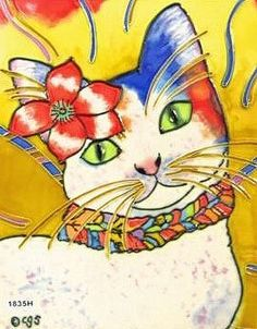 Monica Cat Decorative Ceramic Wall Art Tile 8x10 by CCTC. $34.99. Hang on the wall with the attached hook. Vibrant colors that will never fade. Use in a backsplash. Raised Relief Wall Art. Back corking can be removed for wall installation. Beautiful High Gloss Raised-Relief, Hand-Painted Tile.  Each Tile has a cork back and hanger. Great as a coaster or wall hanging.  These tiles look great in a kitchen, bath, or even a child's room. Great Gift Item!