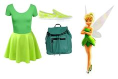 """High school tinker bell"" by mqweber on Polyvore featuring LE3NO, Christopher Kane and Kensie"