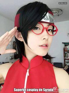 Superbe cosplay de Sarada ! #naruto #sasuke