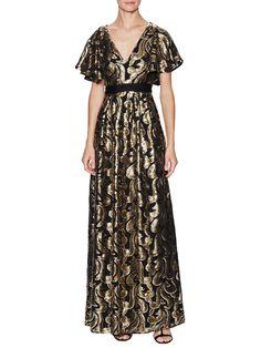 Phoenix V-Neck Sequin Dress by Temperley London at Gilt