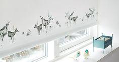 Ann-Lie Grams Children's roller blinds - Greay for children's room I Girls I boys I kids @Linda Jones White