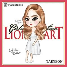 "413 Likes, 4 Comments - 율레벨르 (@yulestbelle) on Instagram: ""@taeyeon_ss  #LionHeart#라이언하트 #사자심장#소녀시대#GG#snsd#taeyeon_ss#태연#taeyeon#snsdfanart#drawing"""