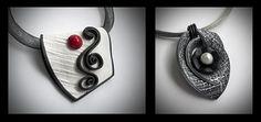 Folded & Shapes pendants by Helen Breil