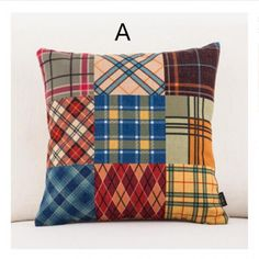 Bohemia Patchwork plaid decorative throw pillows American country geometric cushions