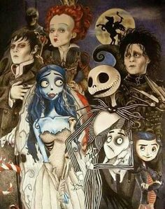 Tim Burton Collage! Yes, I know he didn't do Coraline but I like this pic.:)
