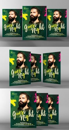 Live Guest Dj Night Flyer. Flyer Templates. $6.00