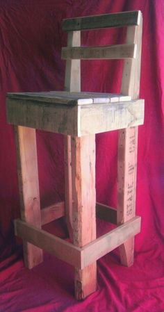 Bar Chair from Pallet Wood $50.00