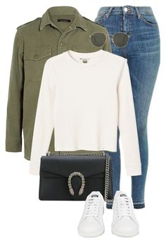 """Untitled #1448"" by morggz ❤ liked on Polyvore featuring Topshop, Equipment, Monki, Gucci, adidas and Ray-Ban"