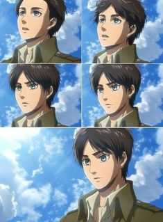 He's so beautiful 😭😭 Eren X Mikasa, Attack On Titan Eren, Levi X Eren, Titan Manga, Manga Anime, Anime Art, Hxh Characters, Titans Anime, Eremika