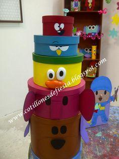 Ideales para fiestas infantiles. Fabricados en cartón de manera artesanal y pintados completamente a mano.