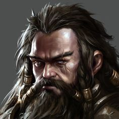 """""""Dwarf Avatar"""" by Mike """"Daarken"""" Lim, for The Hobbit: Armies of the Third Age."""
