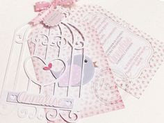20 Bird Cage Invitations Little Birdie Invitation by GiBabyDesign