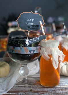 Candy Labels Straw Flags  ☀CQ #halloween #costumes #pumpkin #jackolantern #crafts #DIY