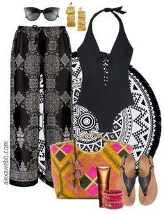 Plus Size Boho Swimsuit Outfit - Plus Size Fashion for Women - Plus Size Swimwear - alexawebb.com #alexawebb